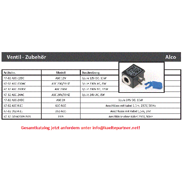 Anschluss ohne Kabelrolle Alco ASC, PG9, 230V,50Hz, 801012 - Kälte