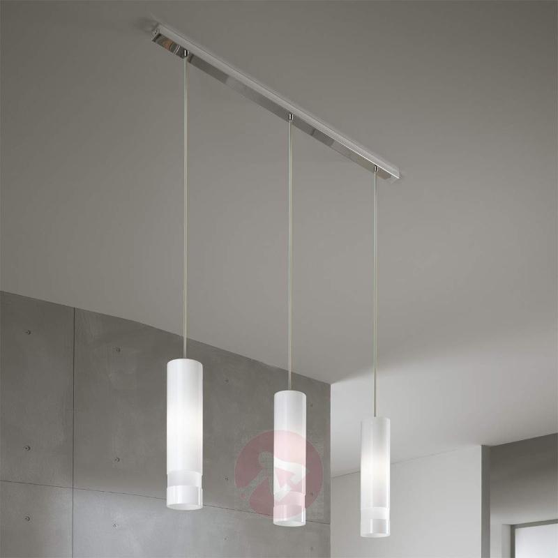 3-bulb, white hanging light Otello - Pendant Lighting