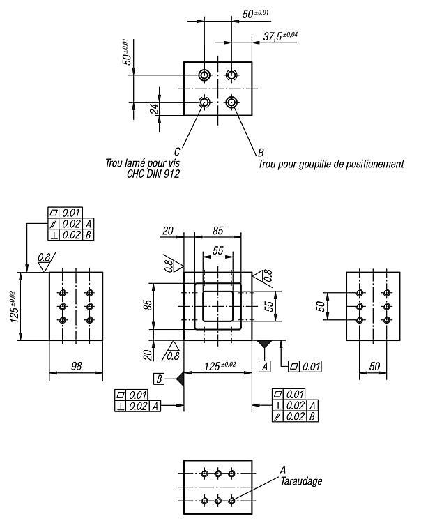 Mini console - Éléments de montage