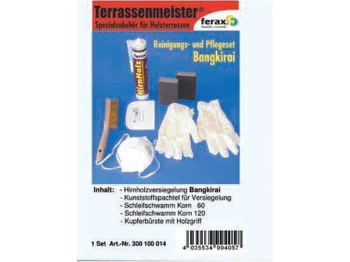 Terrassenpflege Produkte - Reinigungs- und Pflegeset Bangkirai, Garappa Terrassen