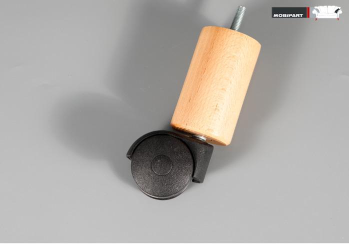 Set 4x Picior Canapea / Fotoliu / Mobila - Round 120 + Rola -