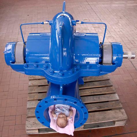 Pompe centrifughe split