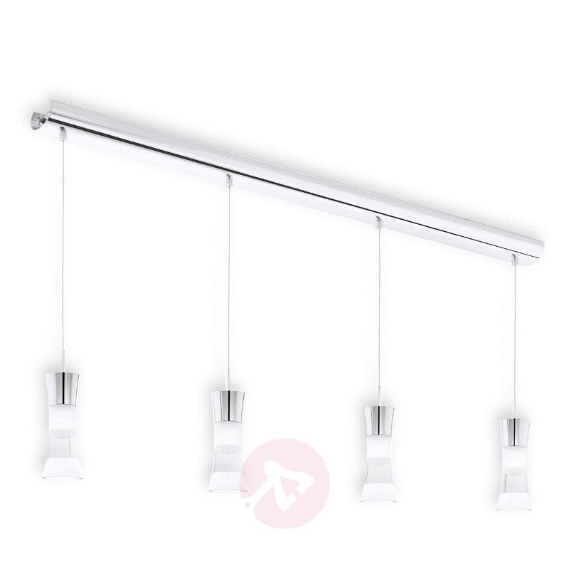 4-bulb Pancento LED hanging light made of steel - Pendant Lighting