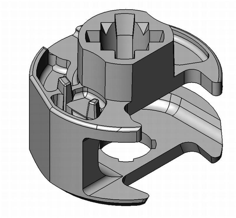 Exzenterinlet AZ 1/AZ 2 Schrägantrieb - Zamak - 18mm - PZ - - Exzenter Zn 18 mm