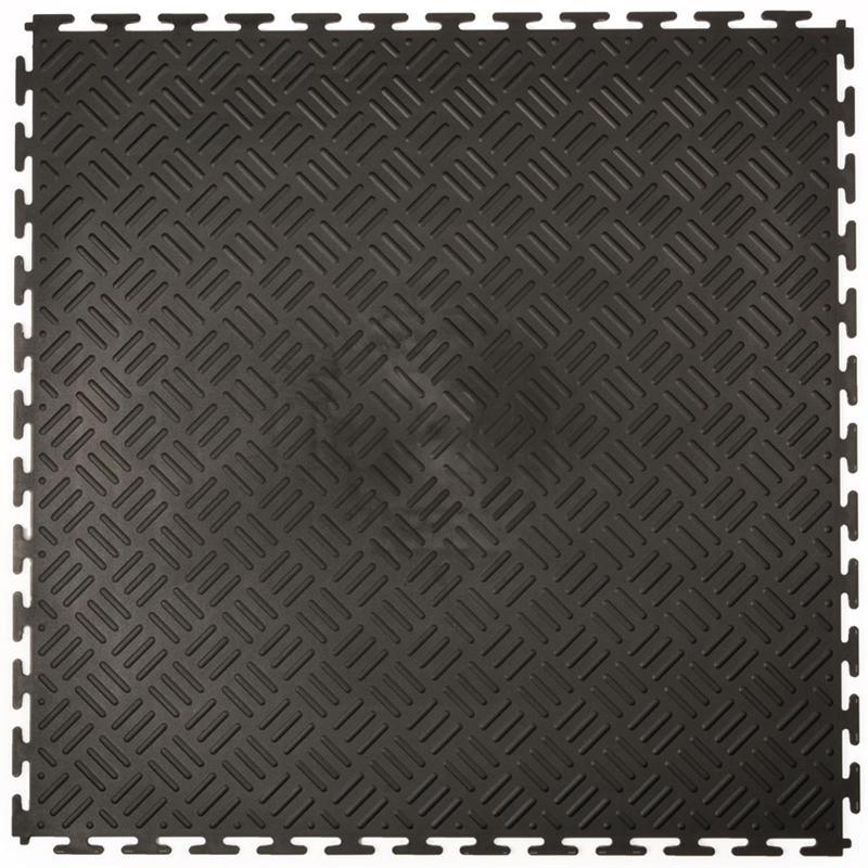 Klickfliese Tränenblech schwarz 50x50cm (B-Ware) - Klickfliesen
