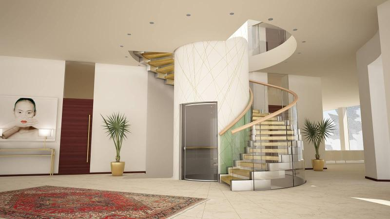 Helical stairs - Helical stair Cobra Gold