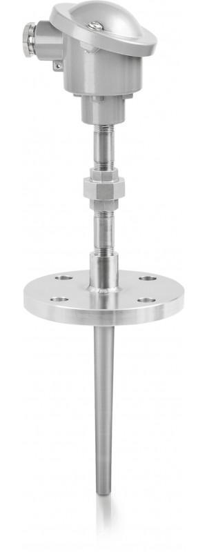 OPTITEMP TCA-TF56 - Sensor de temperatura de termopar / de brida / con termopozo