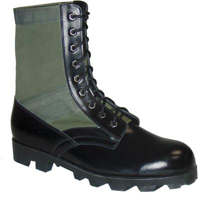 JUNGLE BOOTS VULCANISEE CUIR/TOILE USA - null