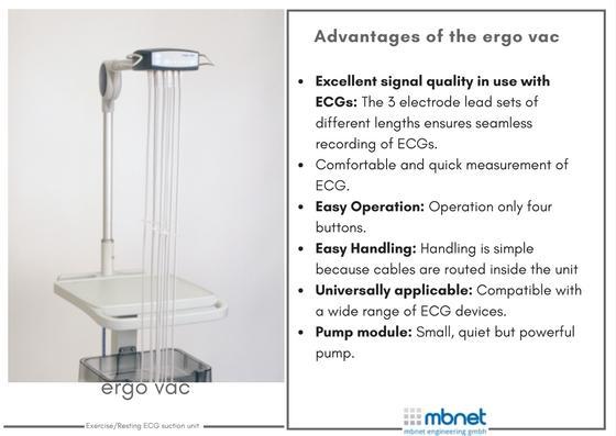 ergo vac - Resting/ Exercise ECG suction units