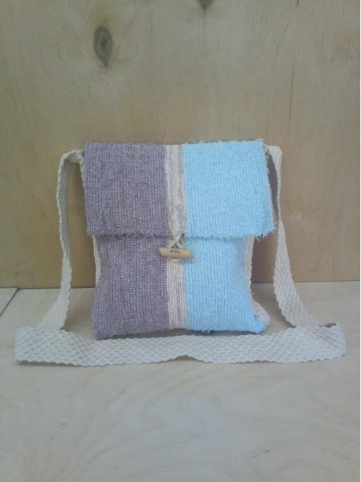 Designer cotton cross-body bag - Handwoven  bag,100% handmade! Eco style!