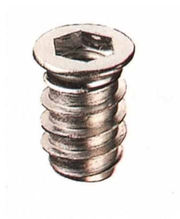 SCREW BUSHING FOR WOOD WITH HEX SLOT IN ZAMAK - Chairs fittings