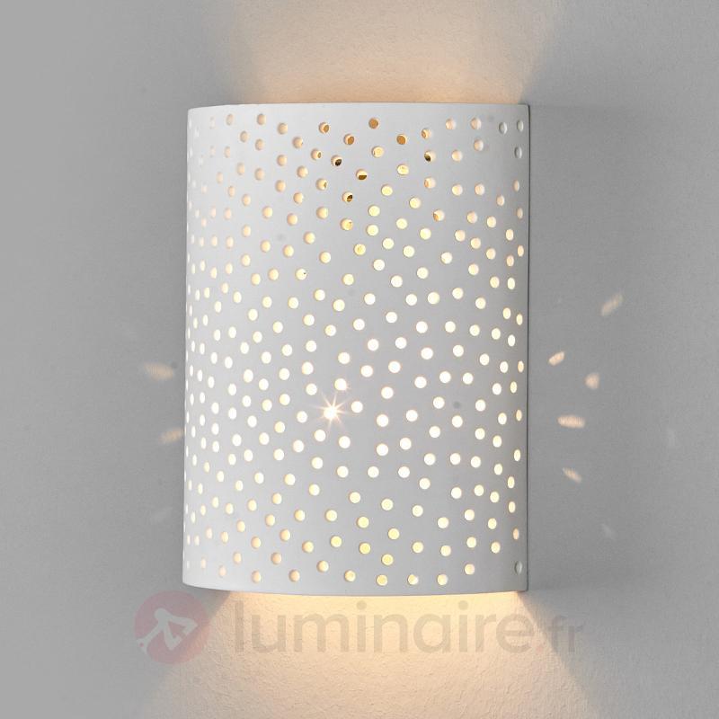 Jiru - applique en plâtre avec joli motif à trous - Appliques en plâtre