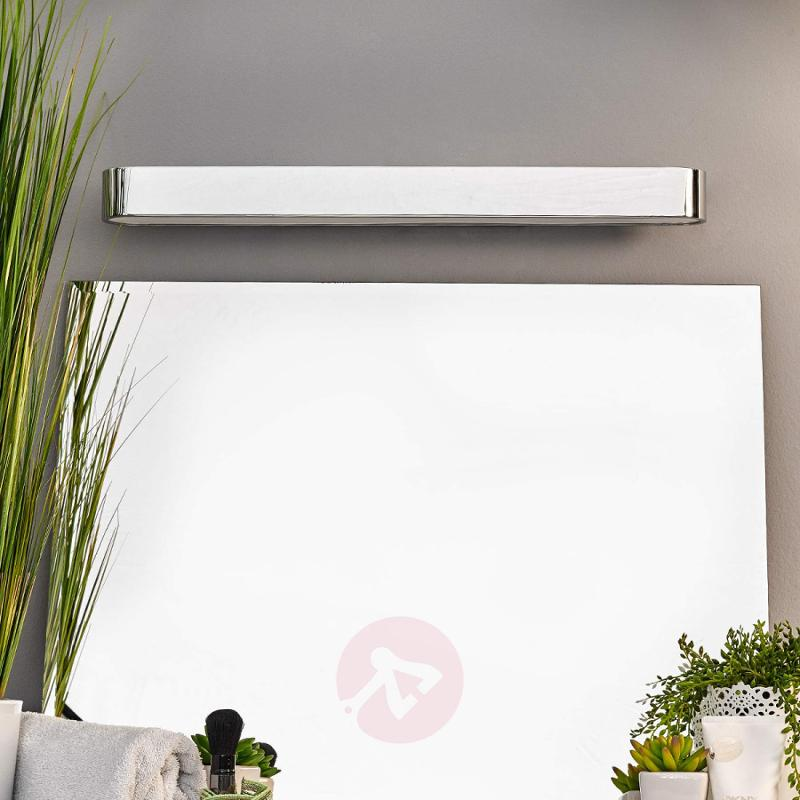 Neven LED Wall Light Chrome Wide - indoor-lighting