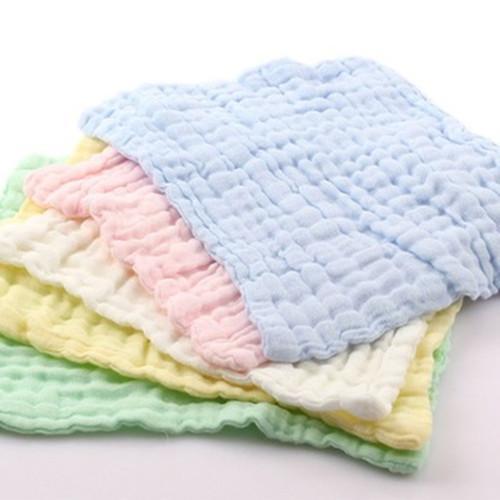Toalla de cara de bebé - Gasa desnatada absorbente 100% algodón, después de desengrasar blanqueamiento, s