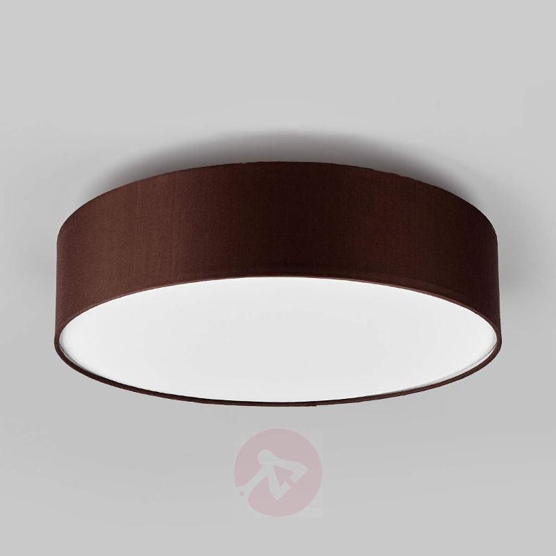 Light brown fabric ceiling light Sebatin, E27 LEDs - Ceiling Lights