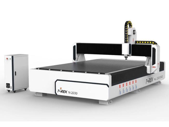 Portalfräsmaschine T-Rex N-2030 - CNC Portalfräsmaschine mit Zahnstangen, Bedienpult und Vakuumtisch