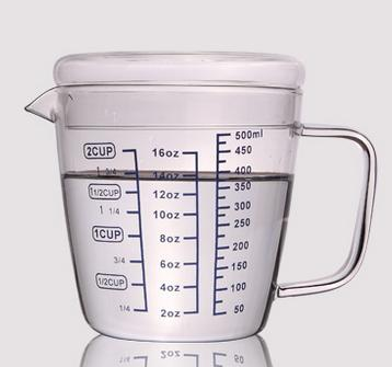HIGH QUALITY MEASURING CUP WITH GLASS - 500ml