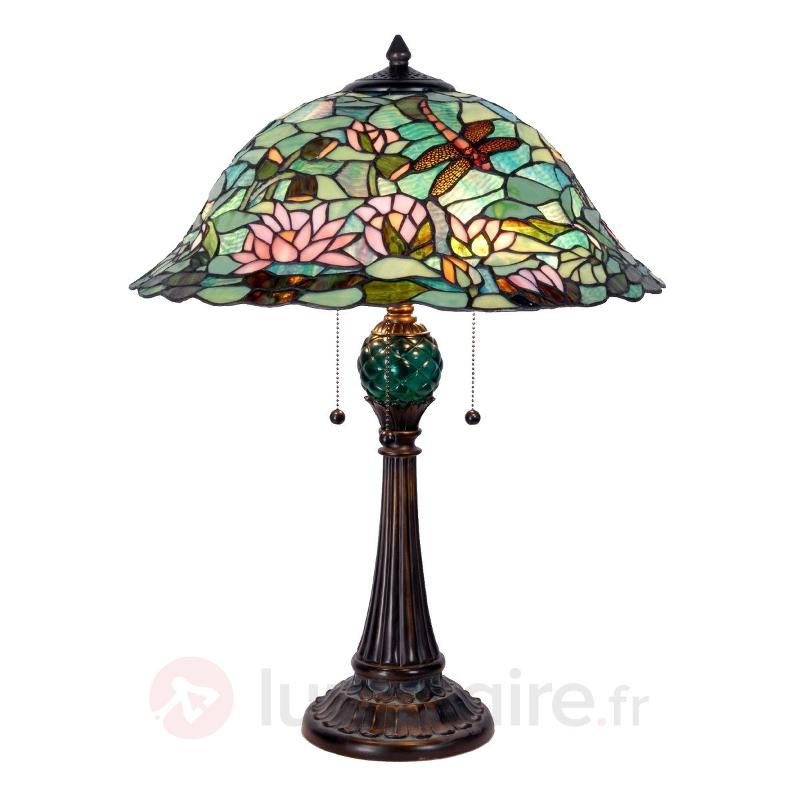 Lampe à poser Waterlily style Tiffany - Lampes à poser style Tiffany