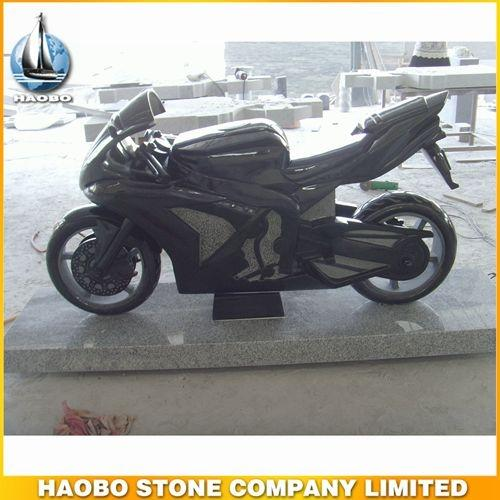 Stunning Black Granite Motorcycle Sculpture Designs