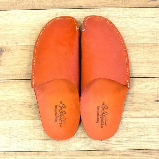 Orange CP Slippers - Orange leather slippers
