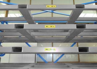 Platenstelling heftruck - Opslag metalen platen