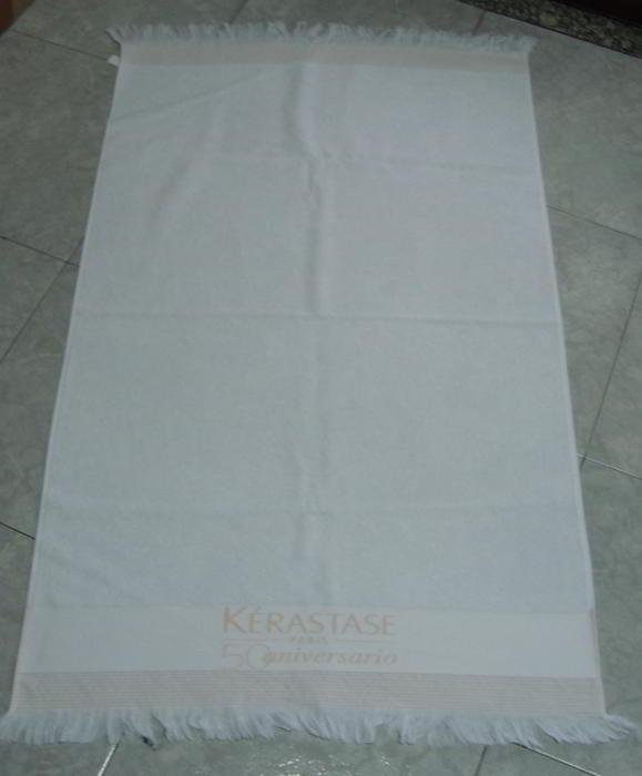 Fringed beach towel -