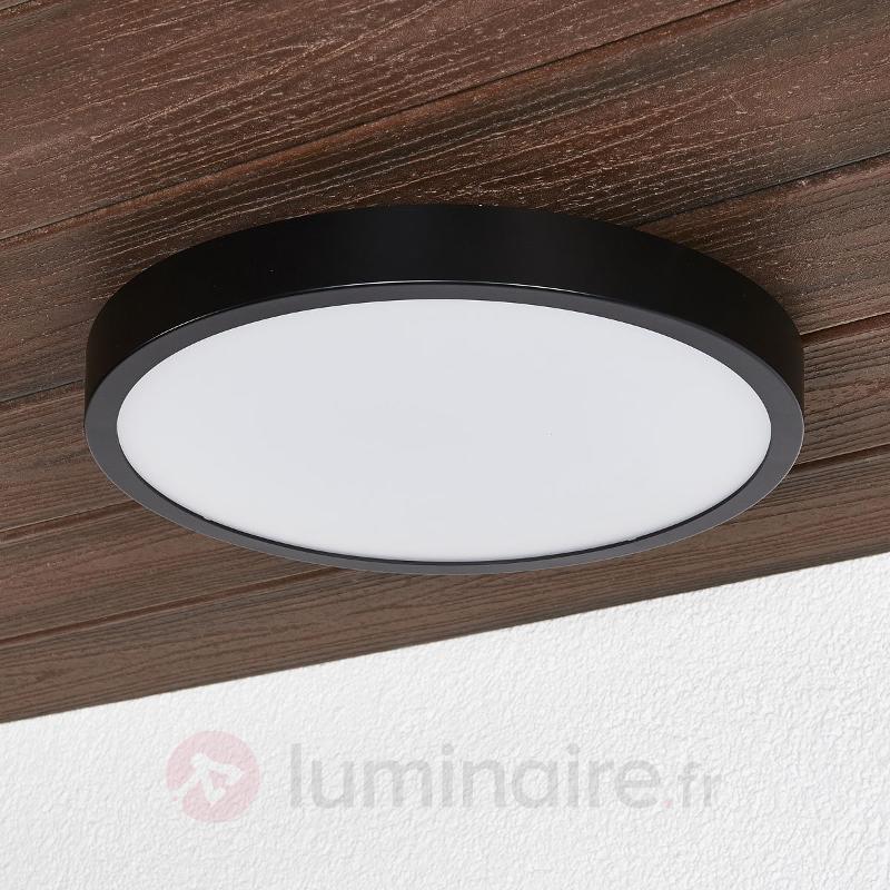 Plafonnier LED noir Liyan, IP54 - Salle de bains