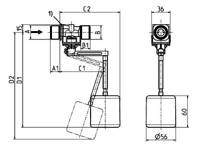 Float valve, DN 10 - 21.010.126