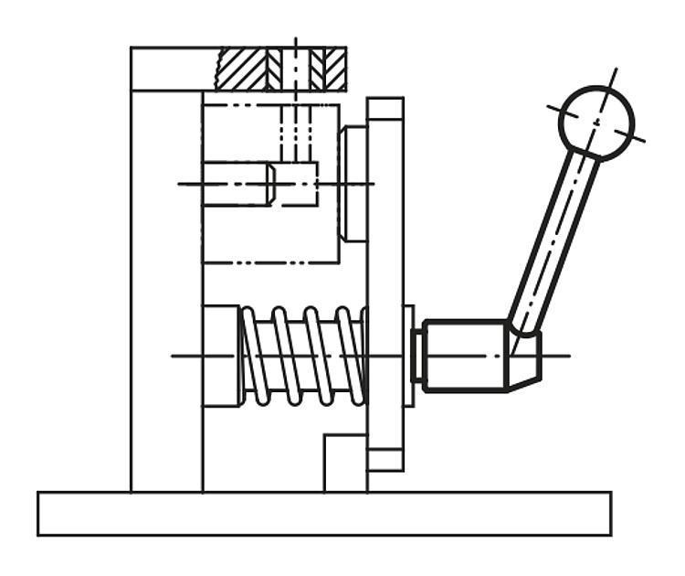 Poignée indexable en Inox avec vis - Leviers de blocage, manettes indexables