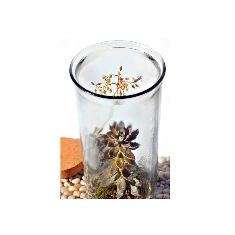 Grand vase Jarron Oceania, hauteur 34 cm en verre recyclé - Vases, Lanternes, décoration