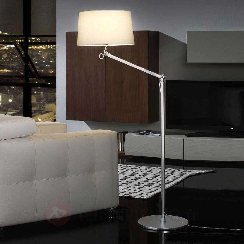 Lampadaire élégant ATLAS blanc - Lampadaires en tissu