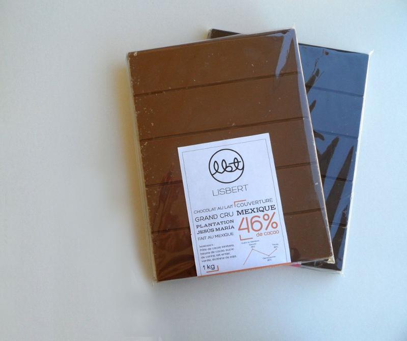 Chocolat au lait 46 % cacao pure origine Mexique -... - Épicerie sucrée