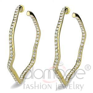 Fashion Earrings - IP Gold(Ion Plating) Top Grade Crystal Earrings