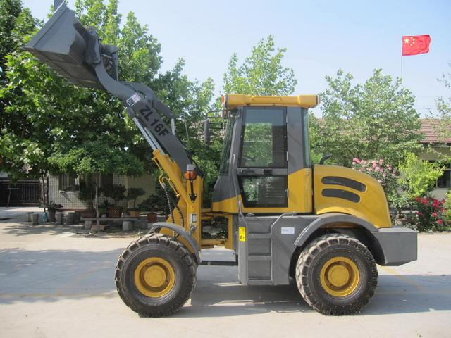 1.6T CE Front Loader - CE marked 1.6 ton front end loader with enclosed tilt cabin, EURO III engine