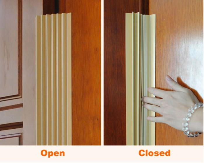 Baby Safety Door Seam Protection Strip Anti-pinch Hand - China Plastic Extrusion Profiles Factory Supply Door Seam Protection Strips