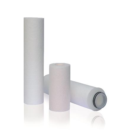 Filter Cartridges for Industrial applications - Spun filter cartridges, pleated cartridges and string wound filter cartridges