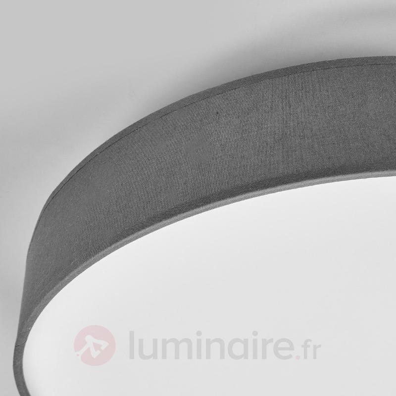 Joli plafonnier en tissu LED Saira en gris - Plafonniers en tissu