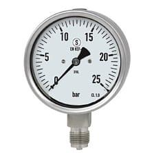 Gauges / Thermometers and Accessories - Safety bourdon tube pressure gauge