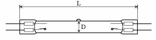 OZONE QUARTZ LAMPS - Lamp Type: O3-DA - null