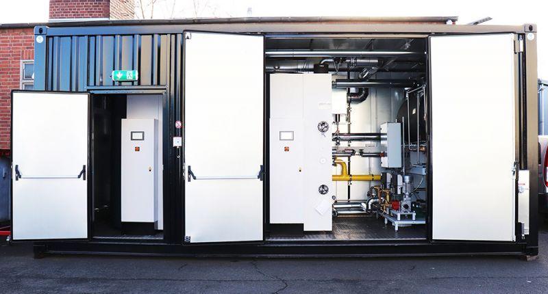 Mobile Container-Dampfanlage - Dampfkessel - Komplettinstallation innerhalb eines Containers