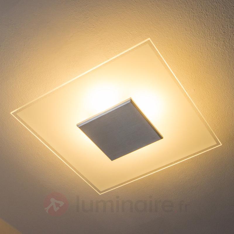 Plafonnier LED Lole en verre à intensité variable - Plafonniers LED