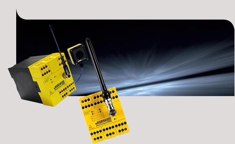 Wireless safety logic signal transmission system - RS