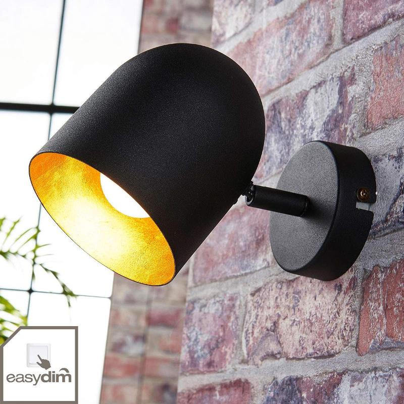 Black and gold LED spotlight Morik, Easydim - Spotlights