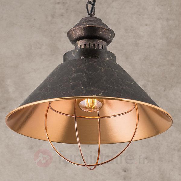 Suspension rustique Shanta, à une lampe - Cuisine et salle à manger