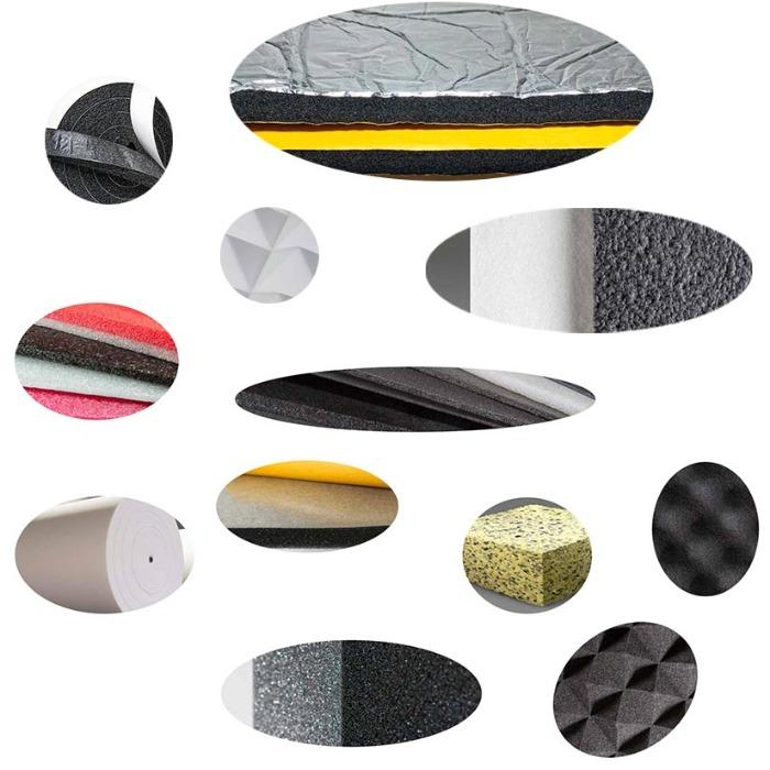 Sound insulation material - NBR Open Cell Rubber Foam, Polyurethane Foam Sheets, Fire Retardant Foam