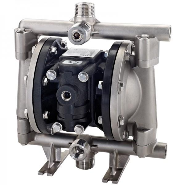 "Double diaphragm pump 1/2"" made of stainless steel... - Metallic Version"