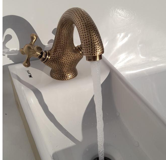 robinet melangeur laiton bronze - martelé