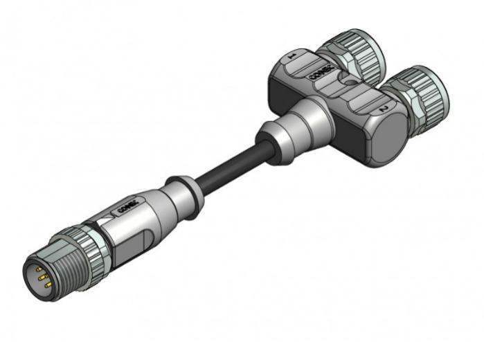 M8x1/M12x1 Y-Verteiler - M8x1/M12x1 Y-Verteiler