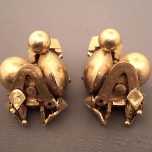 Boucles d'oreilles - Or22ct, Inde