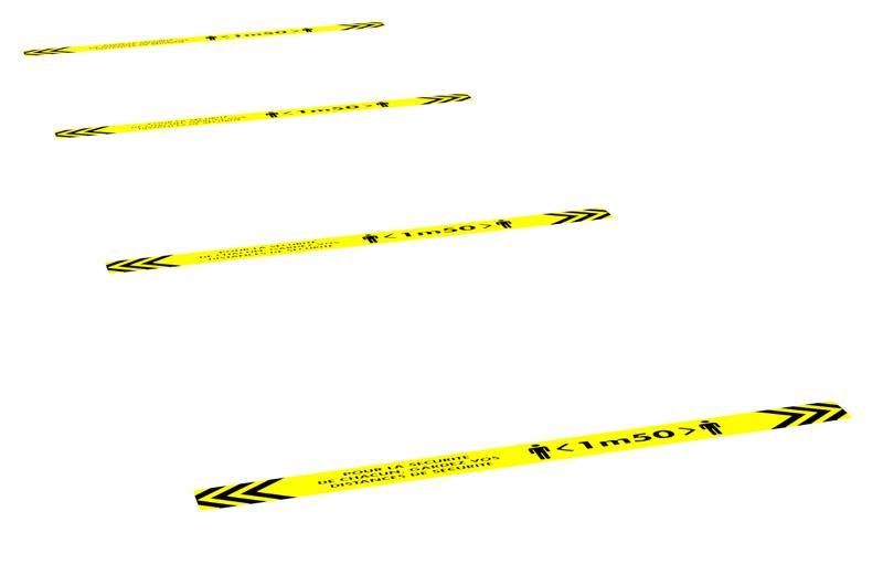 Floor stickers  - social distancing floor stickers